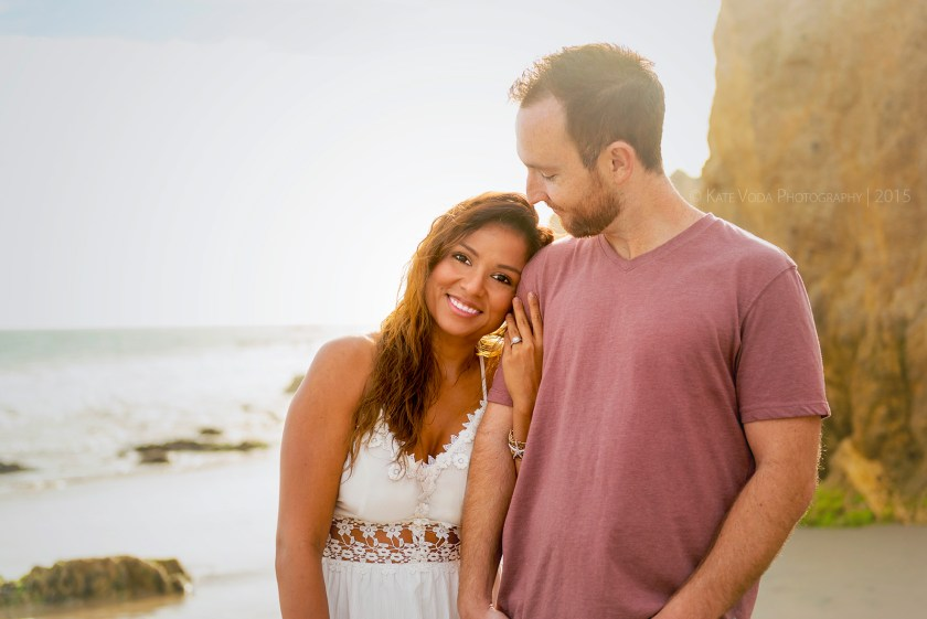 engagement couple on beach