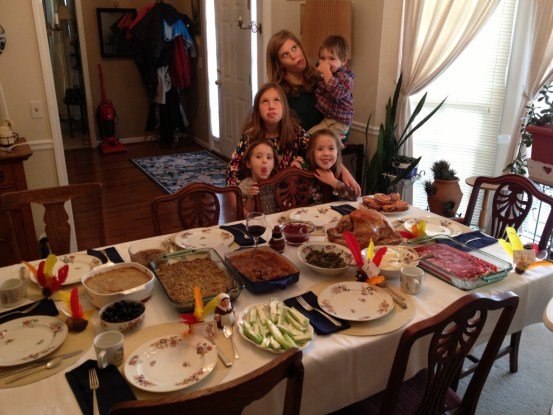Thanksgiving funny faces