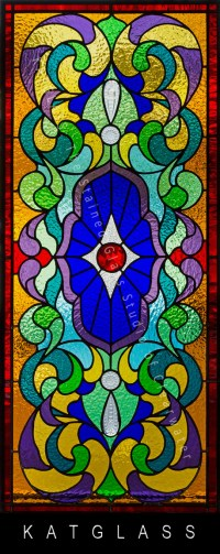 Victorian Stained Glass Bathroom Transom Window Pinellas ...