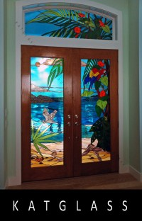 Stained Glass Entry Doorway