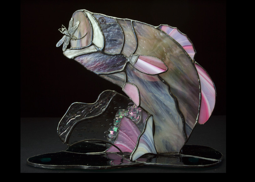 3 dimensional Stained Glass Fish