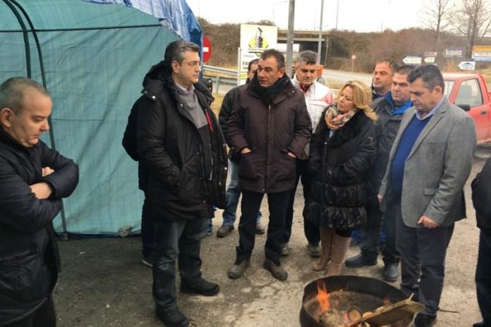 O Περιφερειάρχης Κεντρικής Μακεδονίας  στο «μπλόκο» της Κουλούρας Ημαθίας