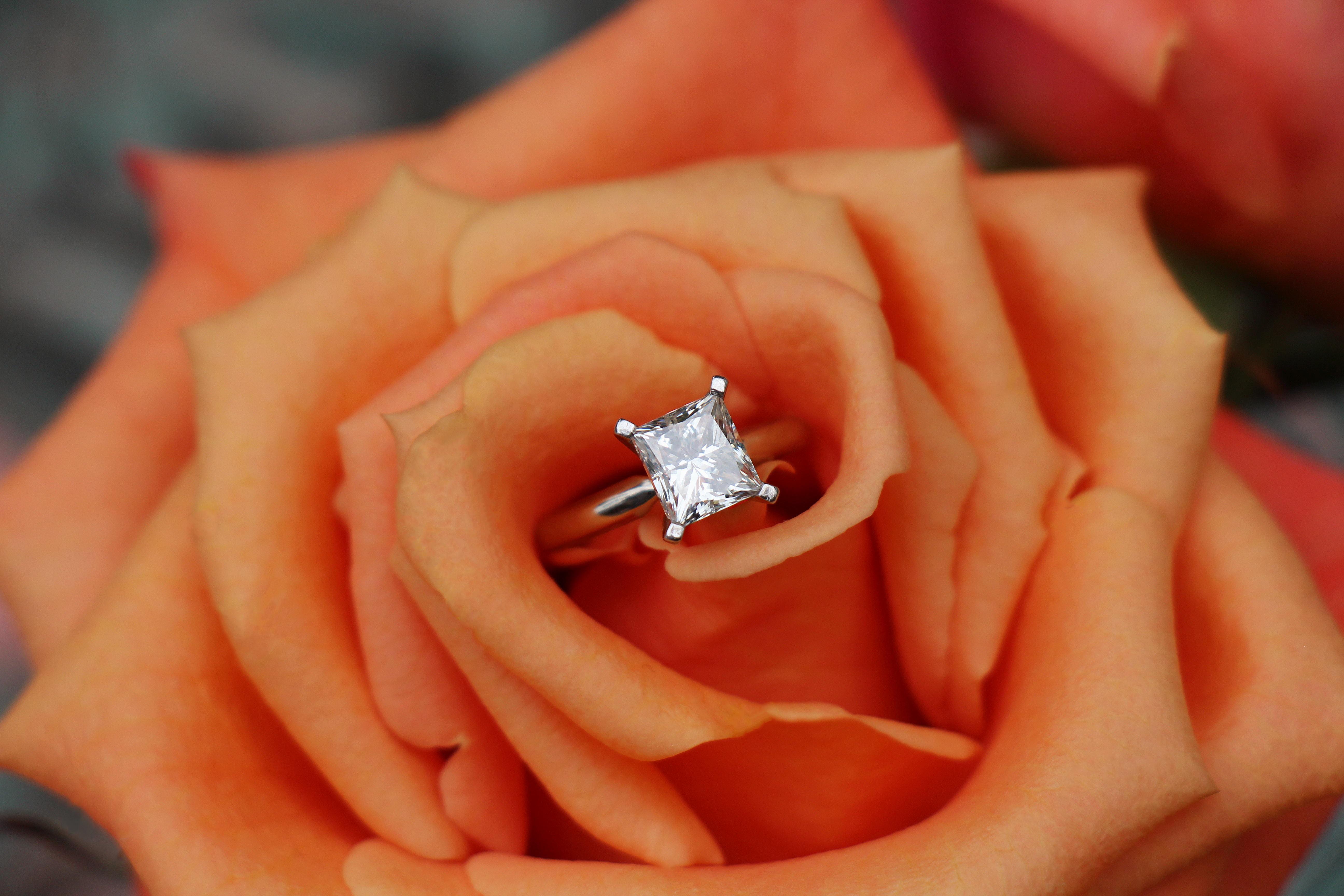 1 – Katherine Eastman Photography – Miami – Wedding 1 – peach rose engagement ring