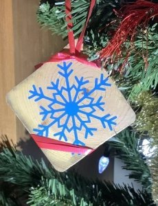 easy wood xmas ornament