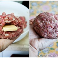 Cheese-Stuffed Burgers for World on a Plate