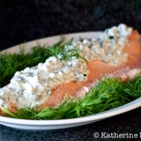 Julia Child's Poached Salmon with Cucumber Sauce for #SundaySupper and #CookForJulia