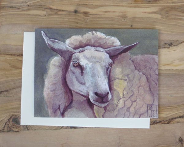 sheep greetings card