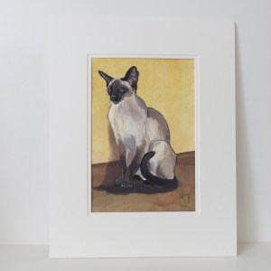siamese cat watercolour painting