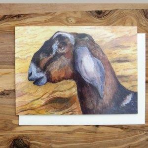 goat greetings card