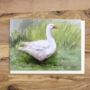 Goose greetings card, artists greetings cards