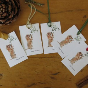 terrrier christmas gift tags