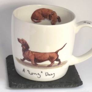 A Long Day Daschund mug, Hudson and Middleton