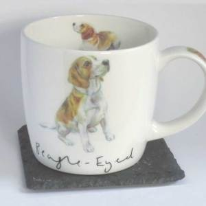 Beagle Eyed fine bone China mug, Hudson and Middleton