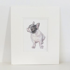 French bulldog watercolour painting for sale