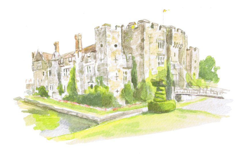 painting of hever castle kent