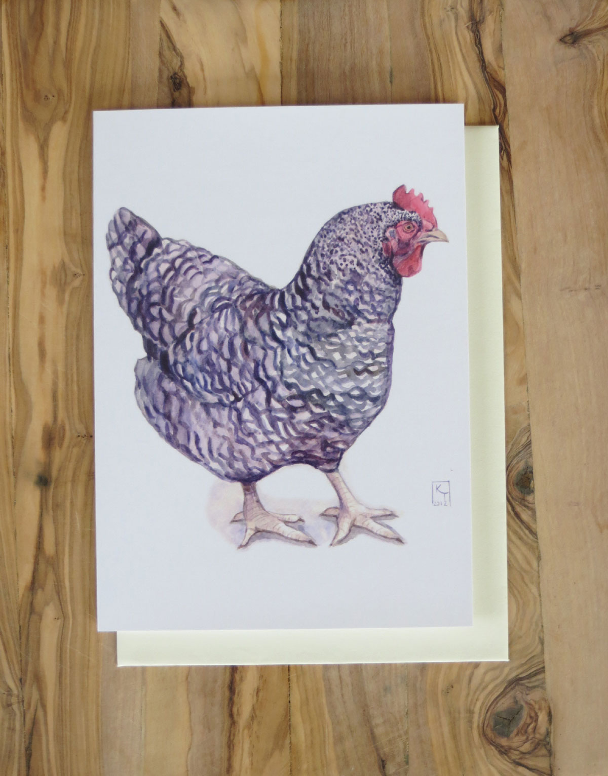 Cuckoo Maran Chicken Hen Greetings Card