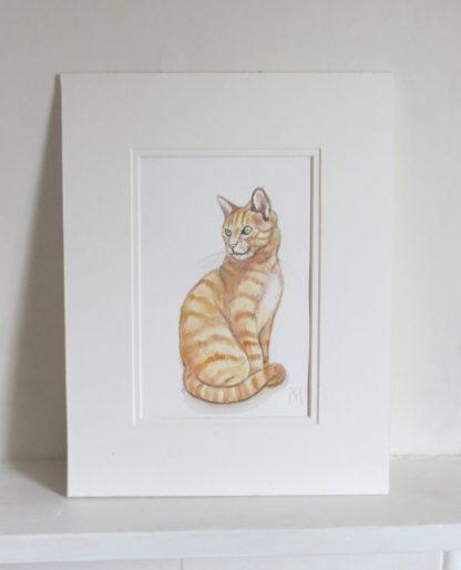 Ginger Marmalade Tabby Cat Artwork