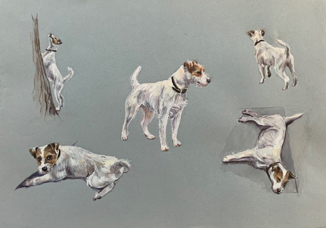 Parson Jack Russell painting