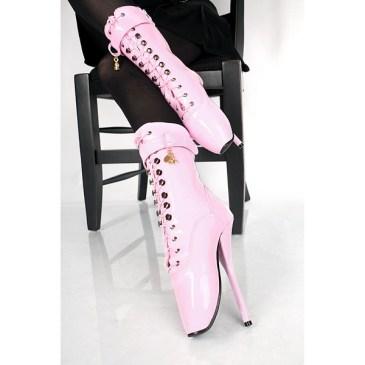 Lack Ballett – Stiefeletten Pink