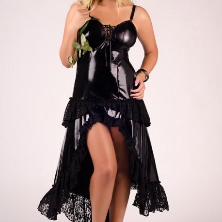 schwarzes langes Kleid M/1023  von Andalea Dessous  EAN: 5901885300795