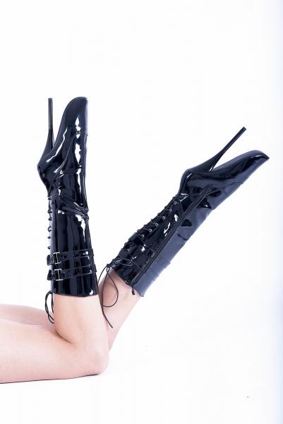 Kassiopeya 913256368 Lack Ballettstiefel / Stiefeletten schwarz