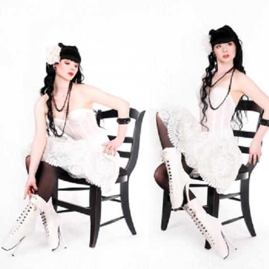 Kassiopeya 913033363 Lack Ballettstiefel / Stiefeletten weiss