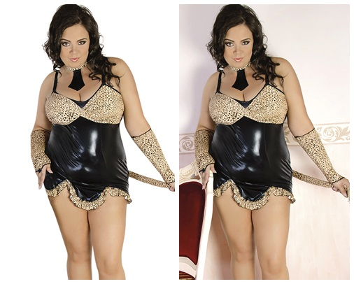4-teiliges Leopraden Outfit C/4010 von Andalea Dessous
