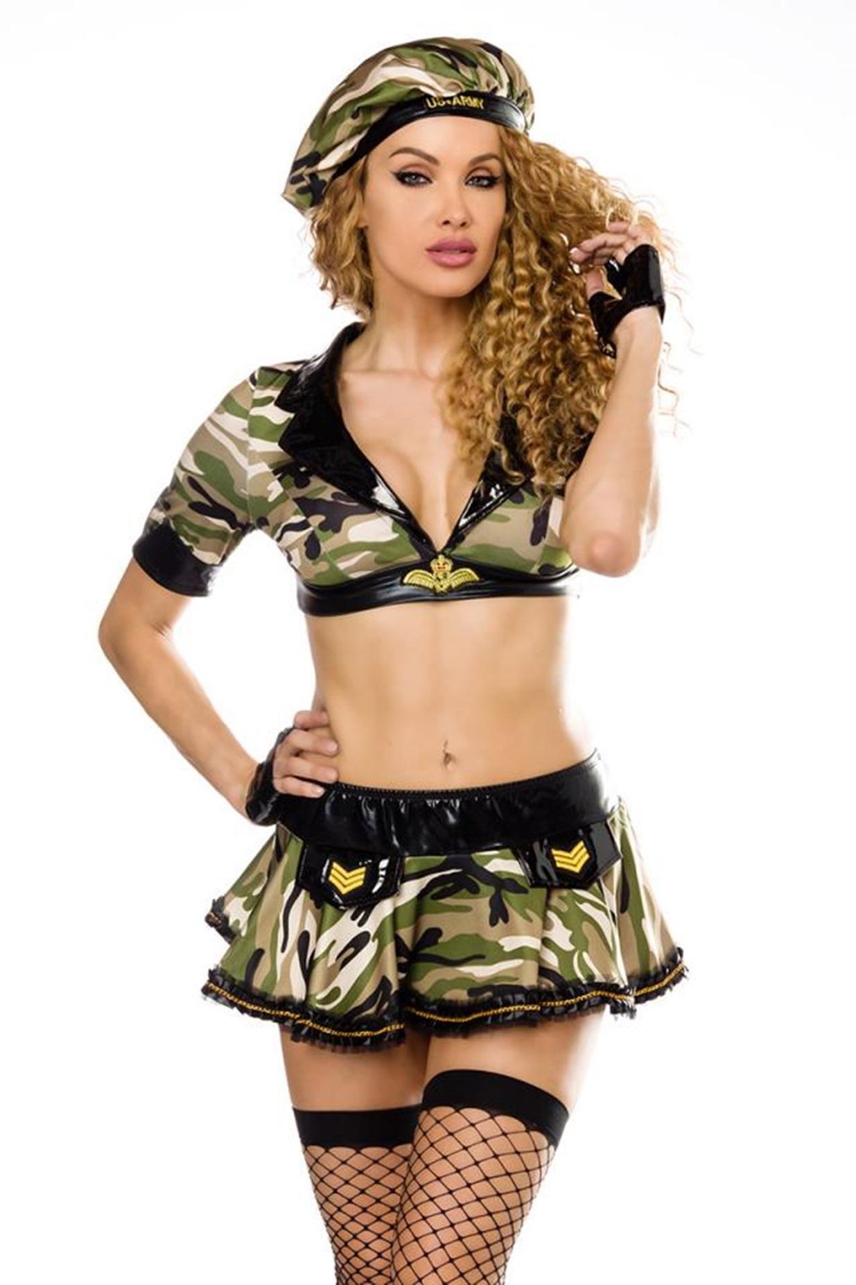 18178 Army Kostüm von Saresia roleplay One Size XS/M