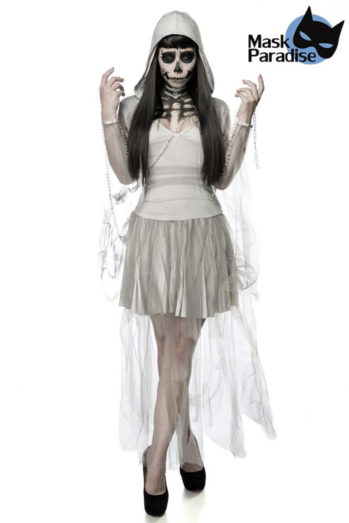 80011 Geisterkostüm Skeleton Ghost von MASK PARADISE