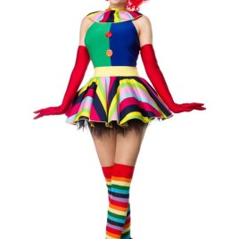80054 Clown Girl Komplettset von MASK PARADISE
