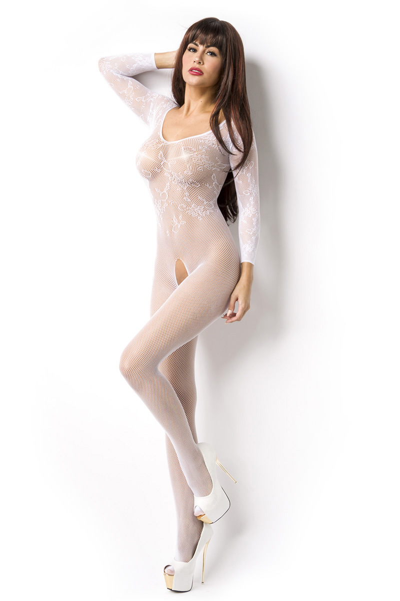 14851 Bodystocking ouvert Weiß