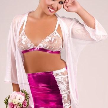 M/1036  4-teiliges Set in weiß/pink von Andalea Dessous