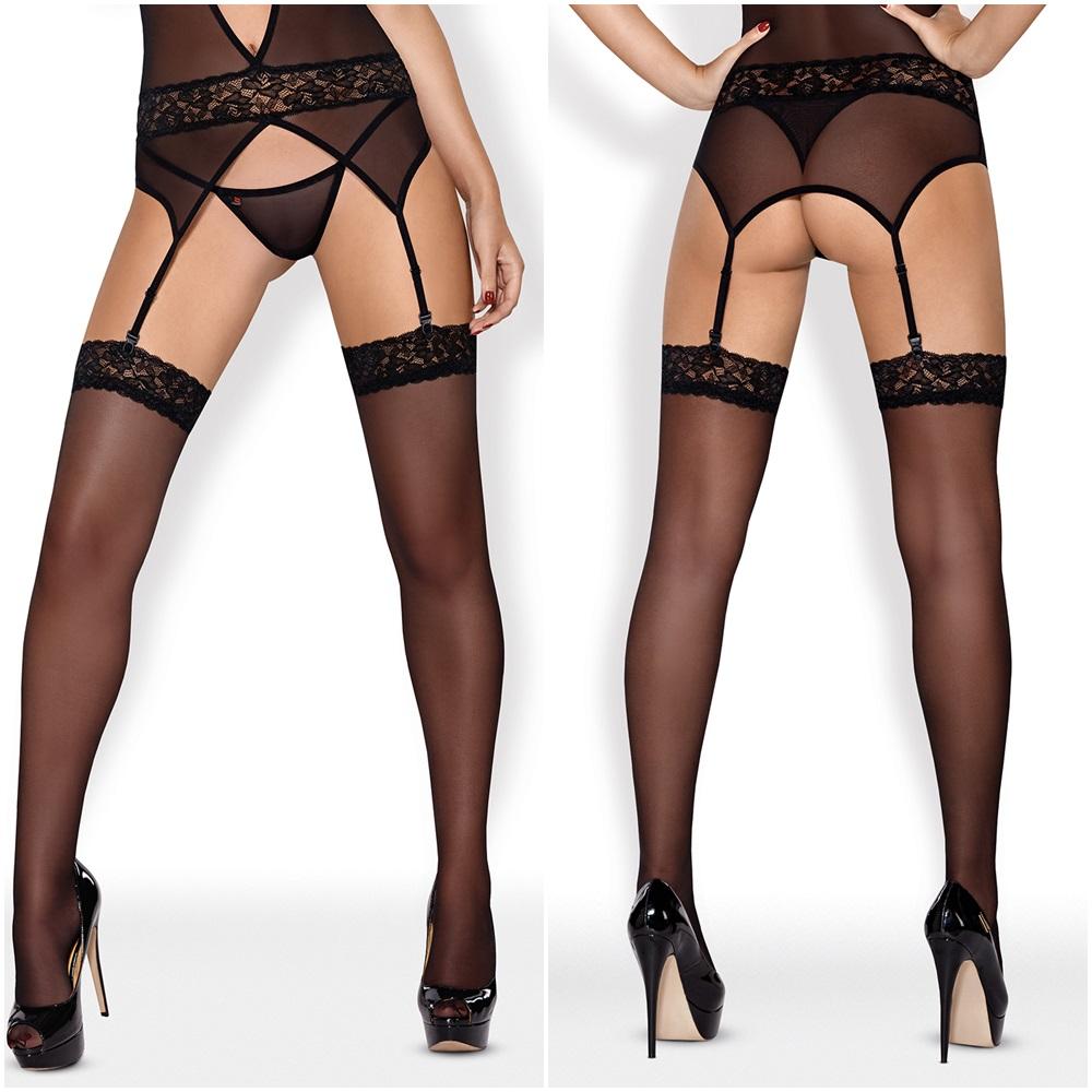 812-STO-1 Stockings schwarz von Obsessive