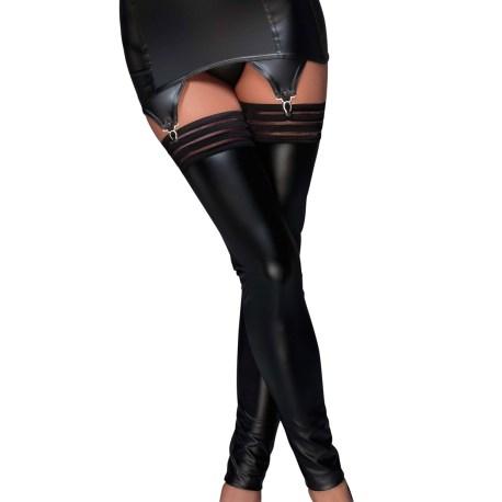 F156 schwarzer Strapsgürtel mit elastischen Bändern von Noir Handmade Muse Collection  EAN: 5903050100728