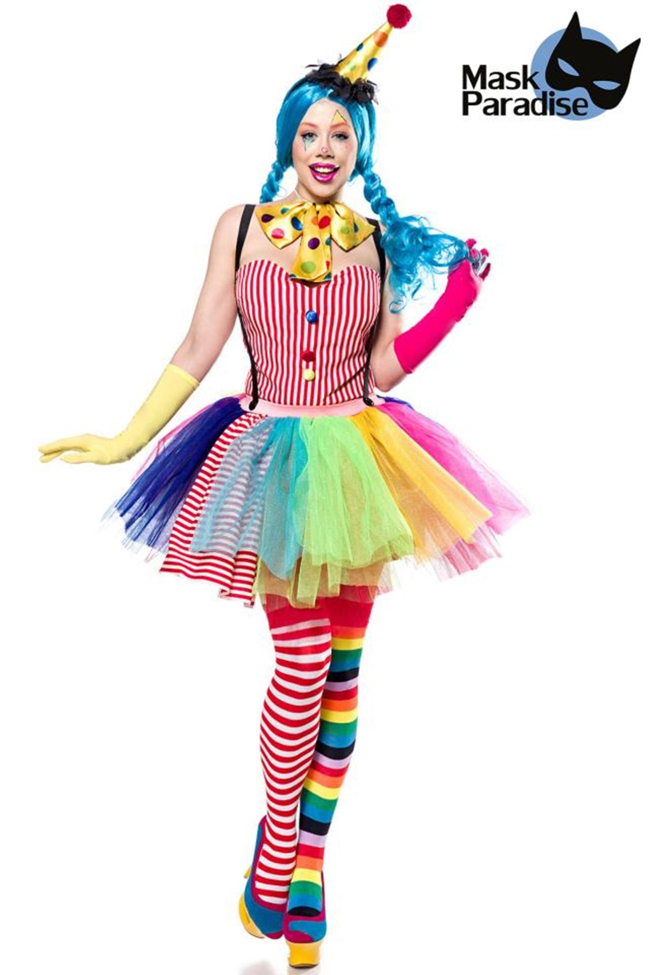 80128 verspieltes Clown Girl von MASK PARADISE EAN: 4251302137321