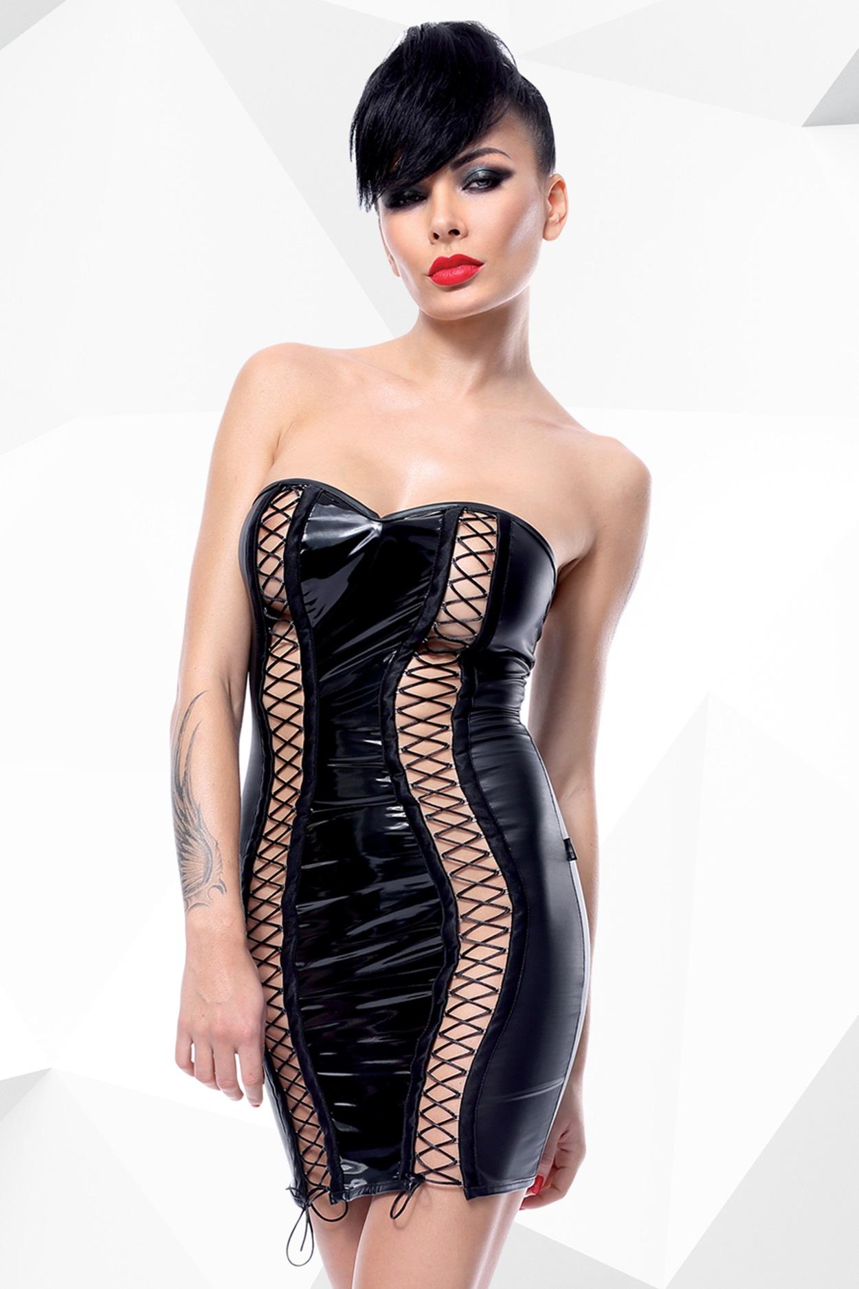 Schwarzes Minikleid Astrid von Demoniq Hard Candy Collection EAN: 5902767392167