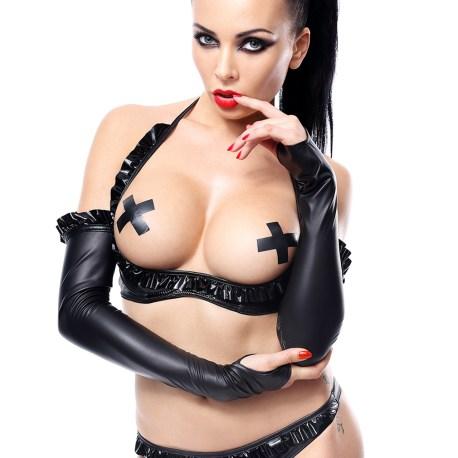 Schwarze Armstulpen Getrude von Demoniq Hard Candy Collection 5902767392761,5902767392778,