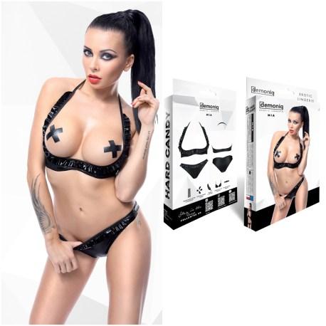 Schwarzes Set Mia von Demoniq Hard Candy Collection 5902767392563,5902767392570,5902767392587,5902767392594,5902767392600,