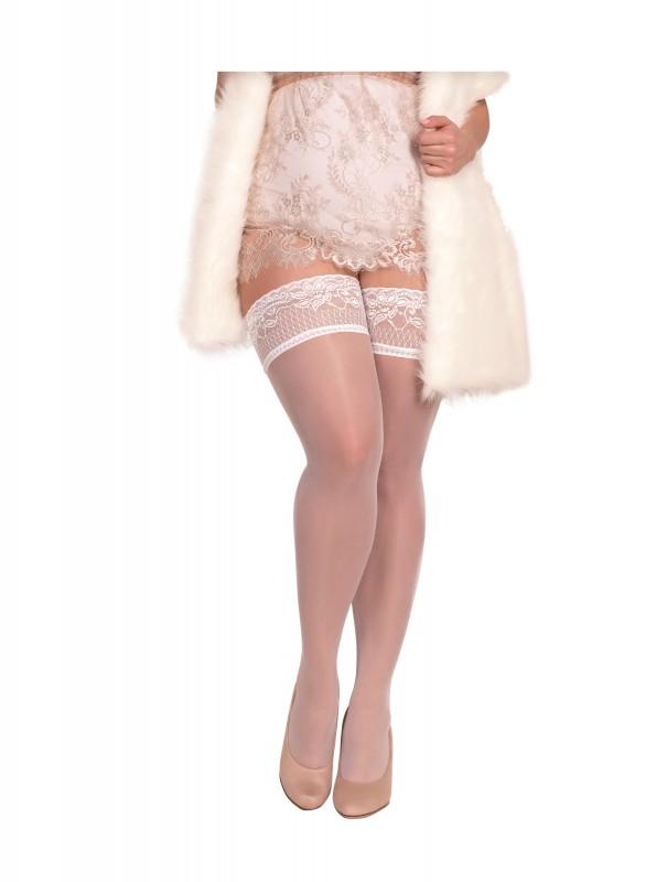BS Art. 364 halterlose Strümpfe weiß 20DEN Ballerina Size Plus