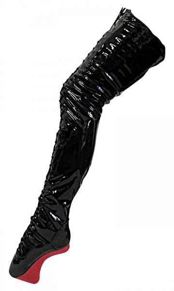 Kassiopeya 9165294388 Pony Crotch Ballettstiefel / Overkneestiefel schwarz-rot