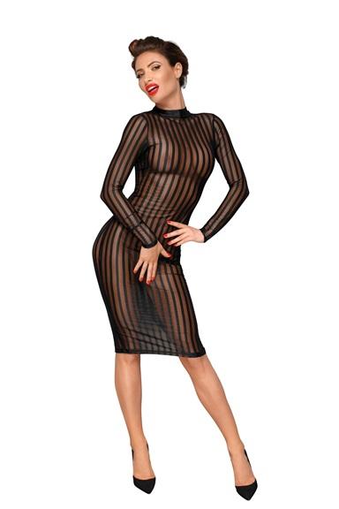 F182 Klassisches Kleid aus weichem und elastischen Tüll von Noir Handmade Decadence Collection