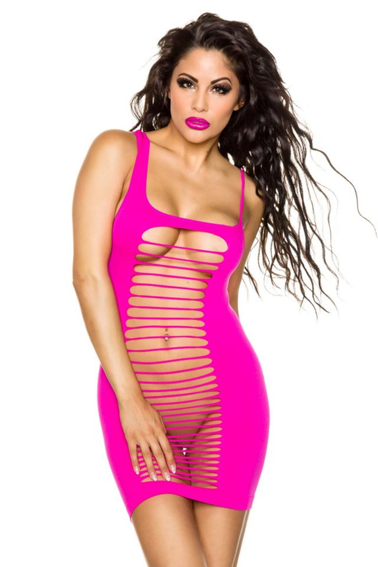 13475 Minikleid mit Cut-Outs Pink