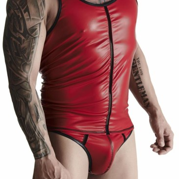 TSH013 Muscle-Shirt rot von Regnes Fetish Planet