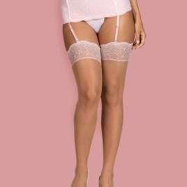 Girlly Stockings Beige/Rosa von Obsessive – 5901688228791
