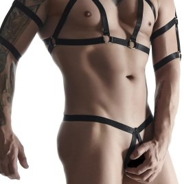 SET011 Harness schwarz von Regnes Fetish Planet