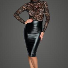 F228 Midi Kleid mit sanfter Spitze von Noir Handmade MissBehaved Collection