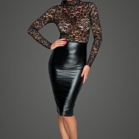 F228 Midi Kleid mit sanfter Spitze von Noir Handmade MissBehaved Collection – 5903050107369,5903050107376,5903050107383,5903050107390,5903050107406,5903050107413, (2)