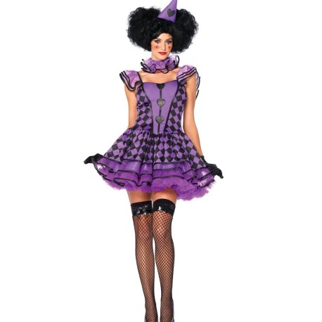 Pretty Parisian Clown Sexy Kostüm – Halloween und Karneval – 85354