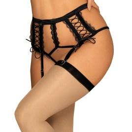 Bravelle Garter Belt schwarz von Obsessive Dessous