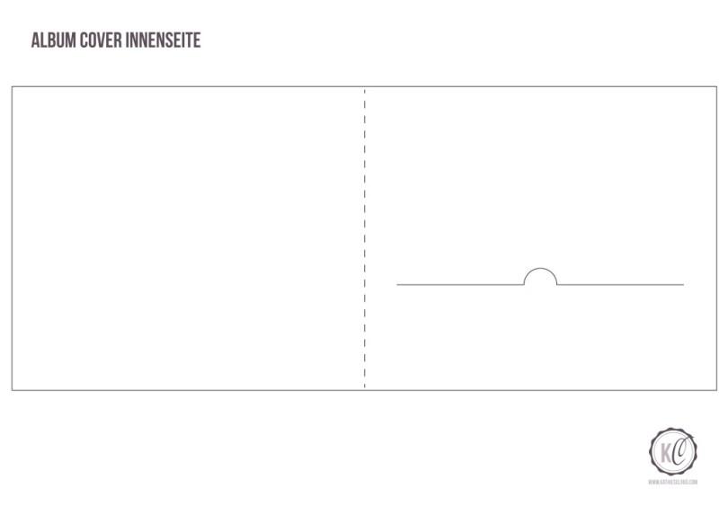 DIY CD-Cover aus Papier Template Innenseite